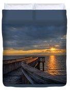 James River Sunset Riverview Pier Duvet Cover