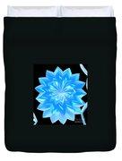 jammer Blue Shimmer Lotus Duvet Cover