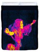 Janis Joplin Psychedelic Fresno 2 Duvet Cover by Joann Vitali