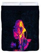 Janis Joplin Psychedelic Fresno  Duvet Cover by Joann Vitali