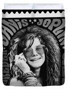 Janis Stamp In A Black And White Vibe Duvet Cover