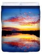 Jantzen Beach Sunrise Duvet Cover