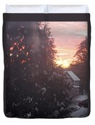January Sunrise From Civill Avenue Duvet Cover