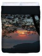 January Sunset Akyaka Duvet Cover