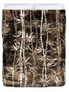 Japanese Bamboo Sepia Grunge Duvet Cover