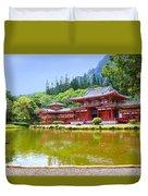 Japanese Byodoin Temple Duvet Cover