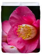 Japanese Camellia-the Official State Flower Of  Alabama Duvet Cover