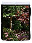 Japanese Garden Bench Duvet Cover