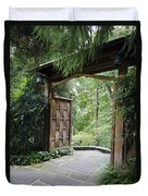 Japanese Garden Gate  Duvet Cover
