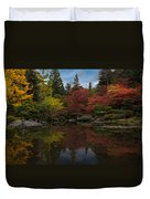 Japanese Garden Reflection Duvet Cover