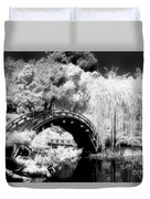 Japanese Gardens And Bridge Duvet Cover