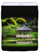 Japanese Gazebo Duvet Cover