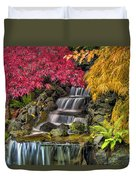Japanese Laced Leaf Maple Trees In The Fall Duvet Cover