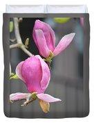 Japanese Magnolia Duvet Cover by Sonali Gangane