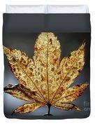 Japanese Maple Leaf Brown - 3 Duvet Cover