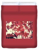 Japanese Maple Leaves - Vintage Duvet Cover