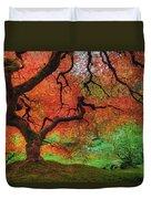 Japanese Maple Tree In Autumn Duvet Cover