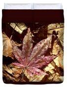 Japanese Maple Tree Leaves Duvet Cover