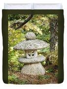 Japanese Stone Lantern Duvet Cover