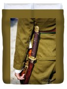 Japanese Sword Ww II Duvet Cover by Thomas Woolworth