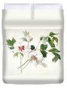 Japanese Tree Peony Duvet Cover by  Lucy Cust