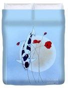 Japanese Utsuri Mono Poppy Moon Duvet Cover