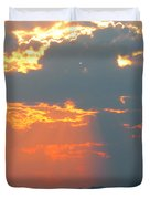 Japanese Zero Fighter Plane Taking Off At Sunset Duvet Cover