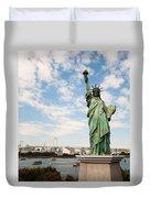 Japan's Statue Of Liberty Duvet Cover