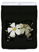 Jasmine Expressive Brushstrokes Duvet Cover