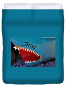 Jaws Boat Bow Duvet Cover