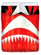 Jaws Minimalist Poster  Duvet Cover