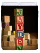 Jayden - Alphabet Blocks Duvet Cover