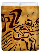 Jazz Abstract Coffee Painting Duvet Cover