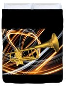 Jazz Art Trumpet Duvet Cover