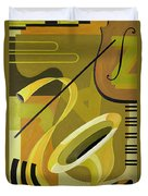 Jazz Duvet Cover by Carolyn Hubbard-Ford