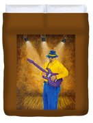 Jazz Guitar Man Duvet Cover