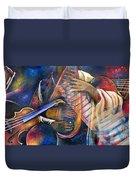 Jazz In Space Duvet Cover