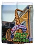 Jazz Kitchen Signage Downtown Disneyland Duvet Cover