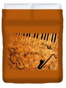 Jazz Music Coffee Painting Duvet Cover