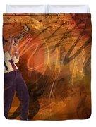 Jazz Nrg Duvet Cover by Bedros Awak