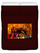 Jazz On The Caverns Duvet Cover