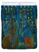 Jazz Time At Club Jazz Duvet Cover