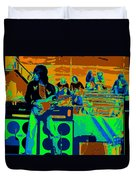Jb #33 Enhanced In Cosmicolors Duvet Cover