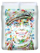 Jean Renoir Watercolor Portrait Duvet Cover