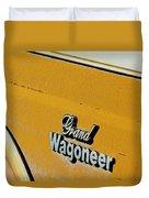 Jeep Grand Wagoneer Side Emblem Duvet Cover