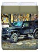Jeep Wrangler Duvet Cover