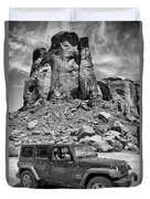 Jeep...it's A State Of Mind Duvet Cover
