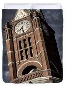Jefferson County Courthouse Clock Tower Duvet Cover