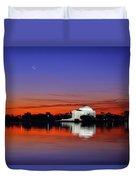 Jefferson Memorial At Dawn Duvet Cover