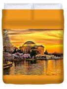 Jefferson Memorial Sunset Duvet Cover